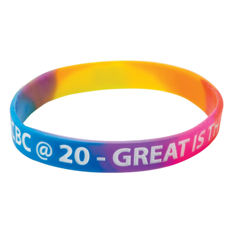 - Multicoloured Printed Wristbands - Unprinted sample  - PG Promotional Items