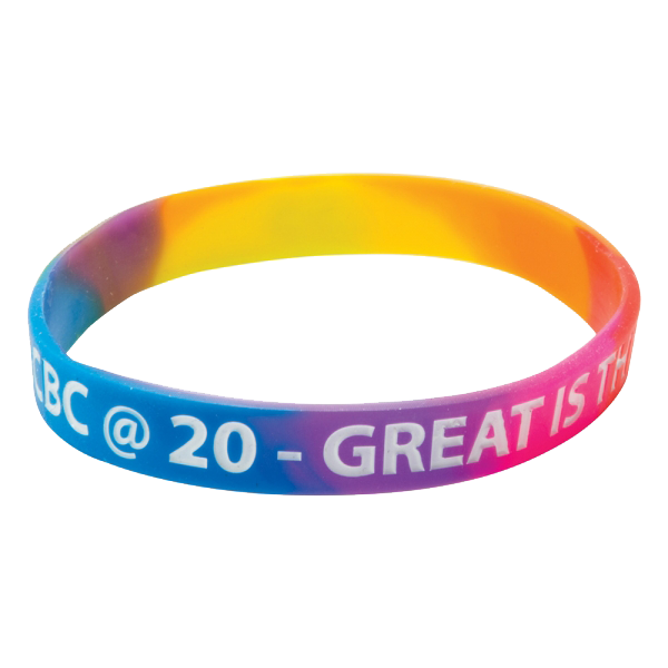 Multicoloured Printed Wristbands