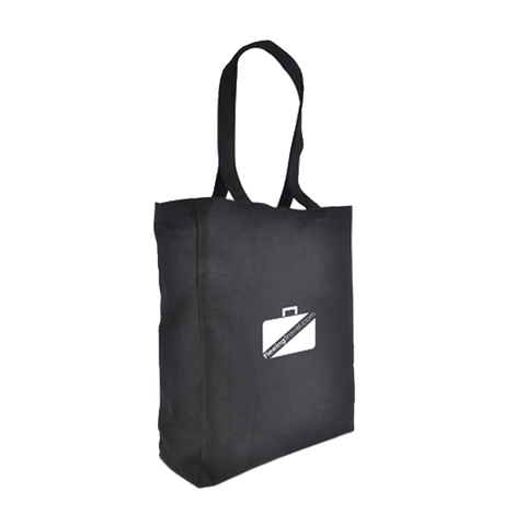 - 10oz Premium Black Shopper - Unprinted sample  - PG Promotional Items
