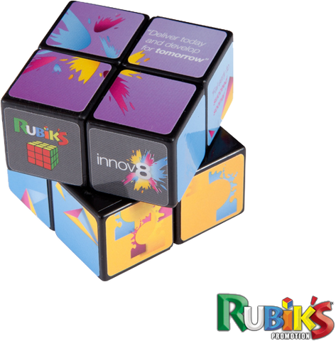 - 2 x 2 Rubiks Cubes - Unprinted sample  - PG Promotional Items