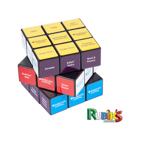 - 3 x 3 Rubiks Cubes - Unprinted sample  - PG Promotional Items