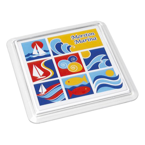Coasters - Square Acrylic Coasters  - PG Promotional Items