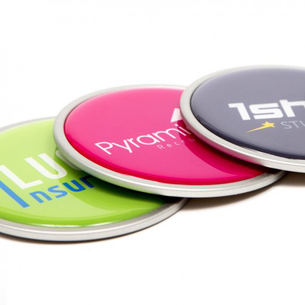 Coasters - Stainless Steel Domed Coasters  - PG Promotional Items
