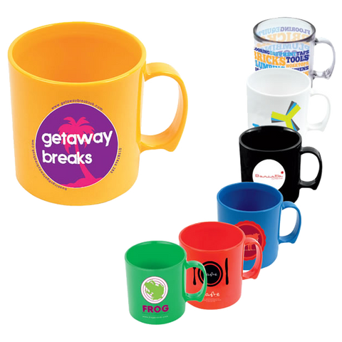 Plastic Mugs - Plastic Coffee Mugs  - PG Promotional Items