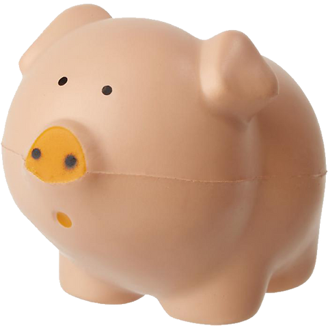 promotional stress pig, printed stress pigs, promotional pigs stress items