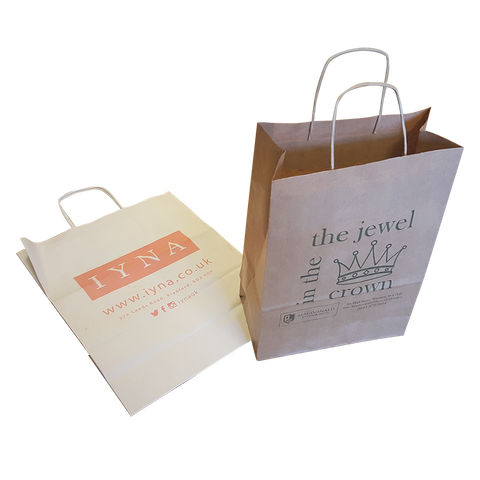 "Paper & Gift Bags - Large 16"" x 12"" Twist Paper Bags  - PG Promotional Items"