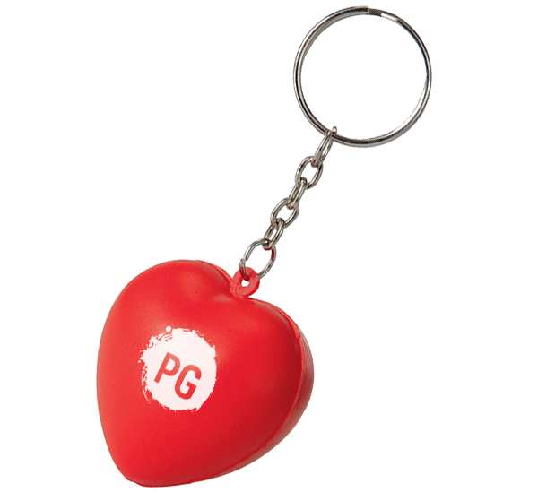 Stress Heart Keyrings