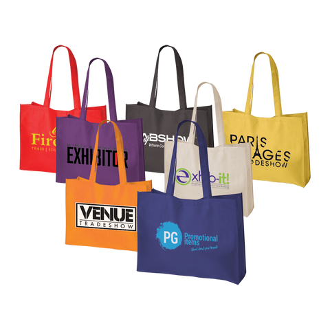 Printed Tradeshow Bags, promotional tradeshow bags, bags printed for trade show
