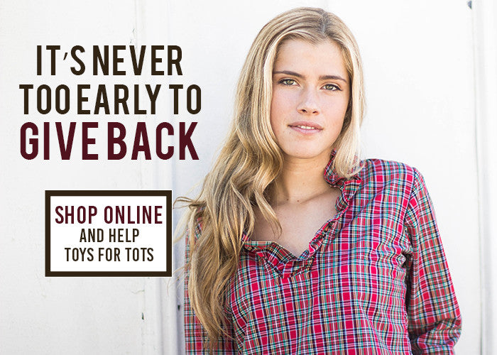 It's Never Too Early to Give Back: Shop Online and Help Toys for Tots