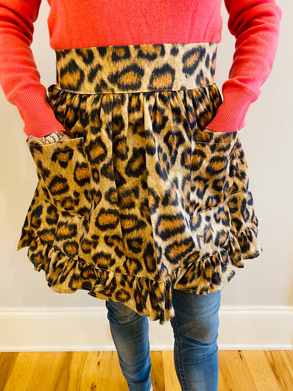 Cocktail Apron-Leopard