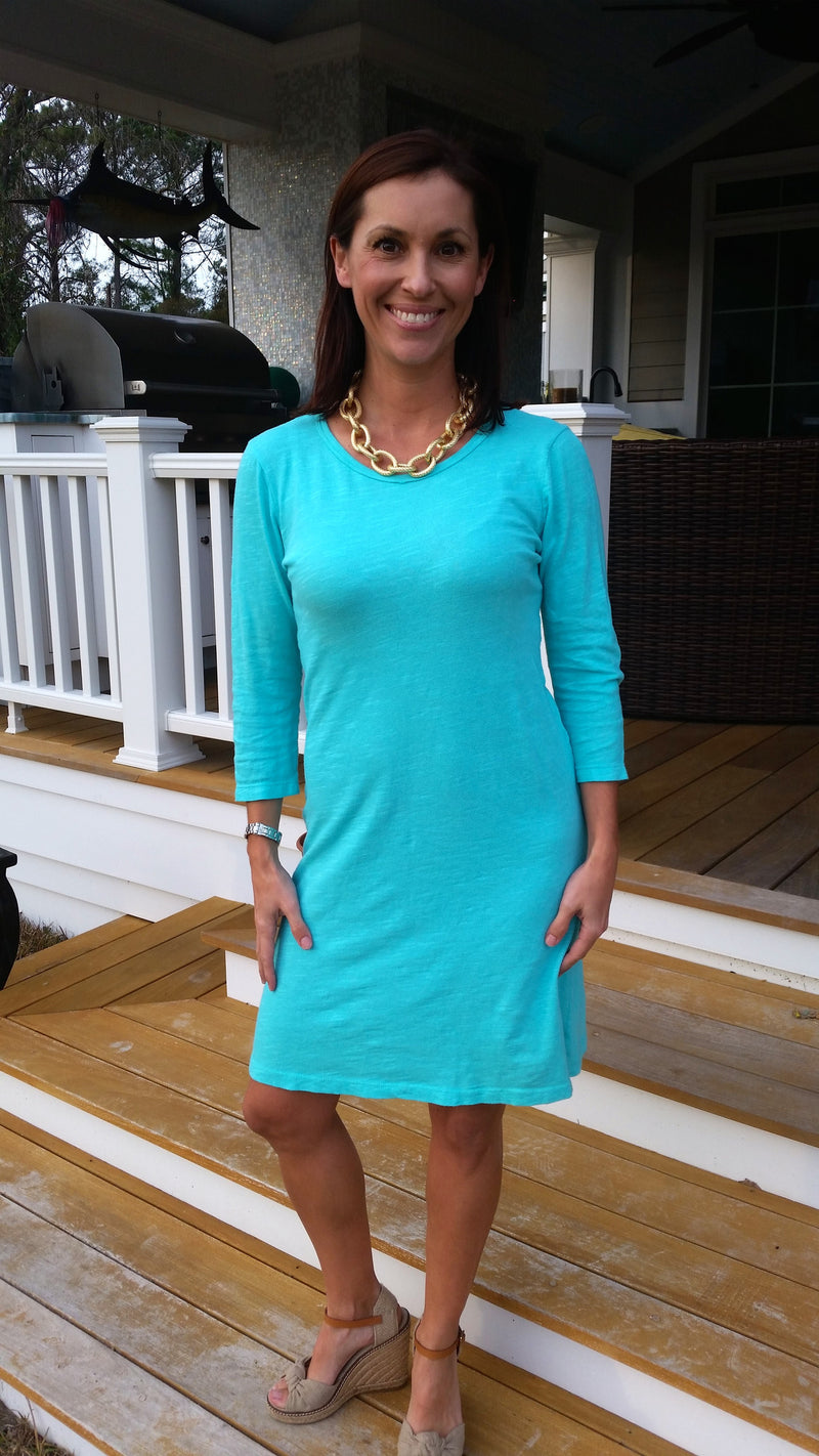 Mint Green Jersey T-Shirt Dress