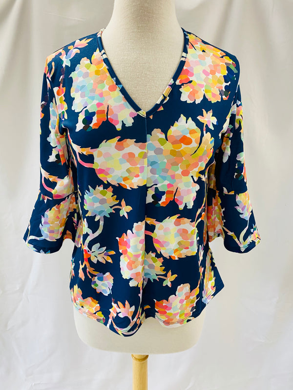 Kristy Top in Navy Pippa Floral