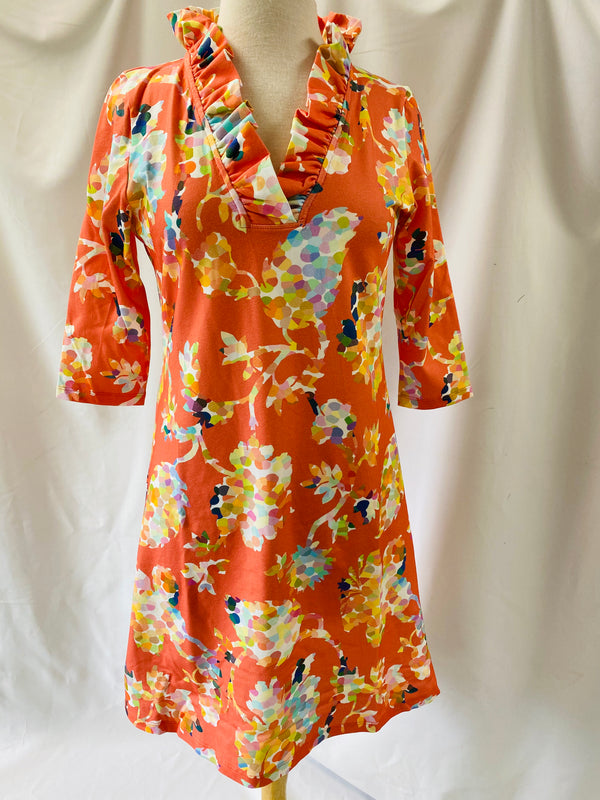Parker Dress in Coral Pippa Floral