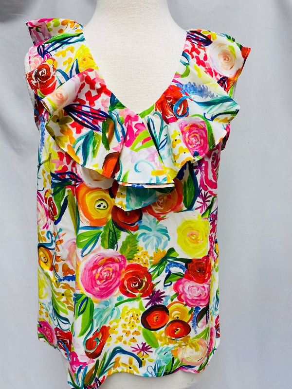 Beaufort Top-Summer Floral