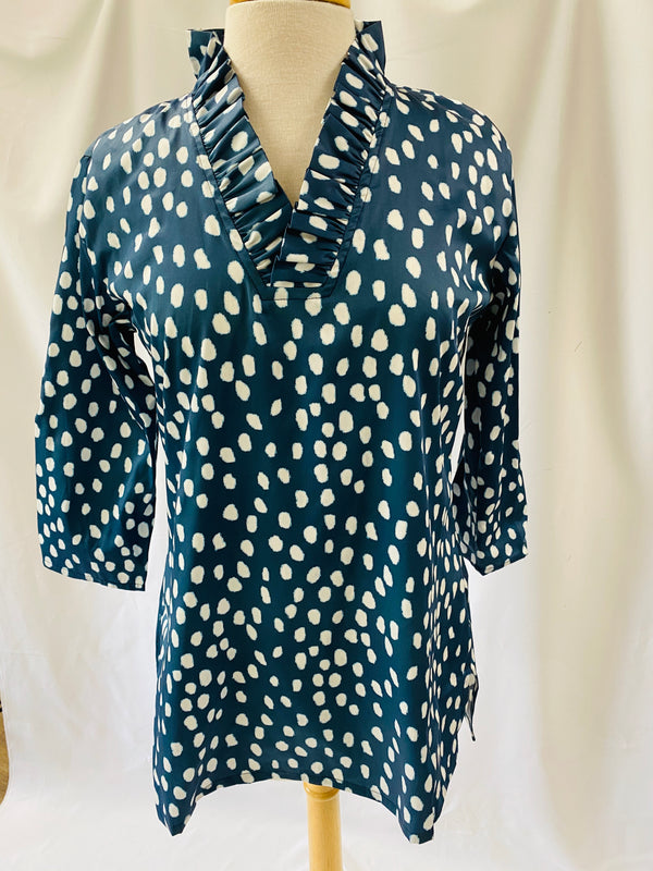 Parker Tunic-Navy Printemps