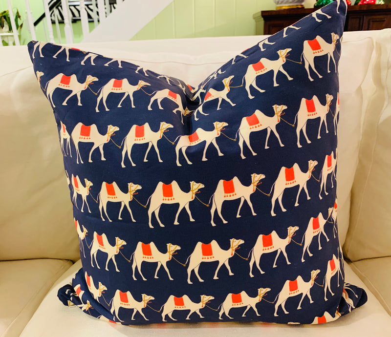 Throw Pillow-Camel Parade