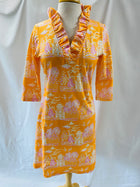 Parker Dress in Orange Pagoda