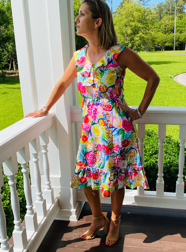 Beaufort Midi Dress-Summer Floral