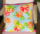 Throw Pillow Citrus Pink Stripe COVER ONLY