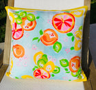 Throw Pillow Citrus Yellow Stripe