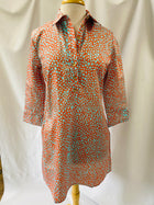 Popover Dress in Coral Shagreen
