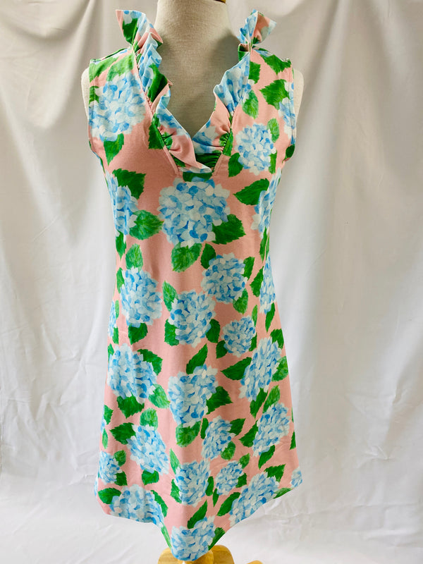 Sleeveless Parker Dress in Hydrangea