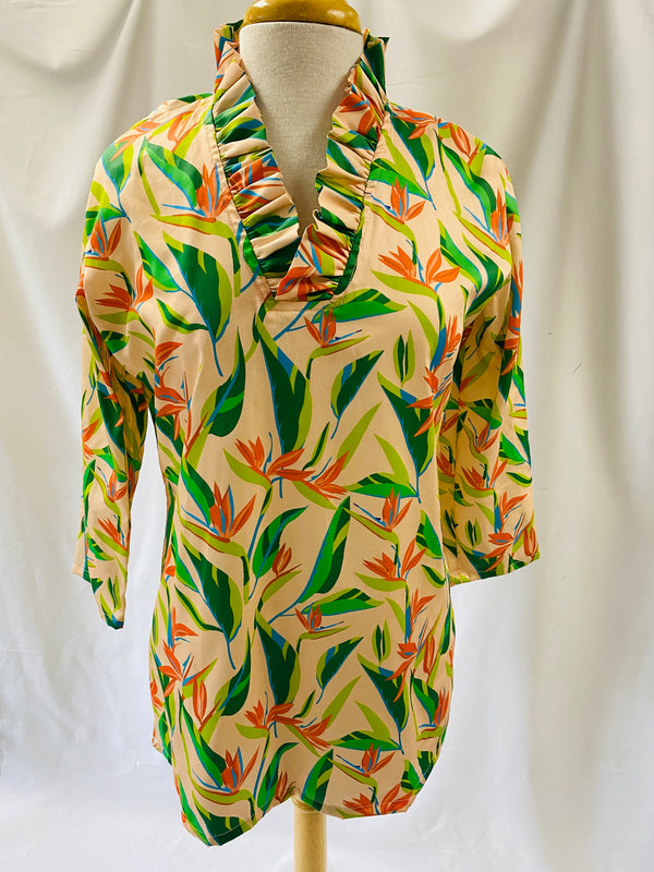 Parker Tunic-Birds of Paradise