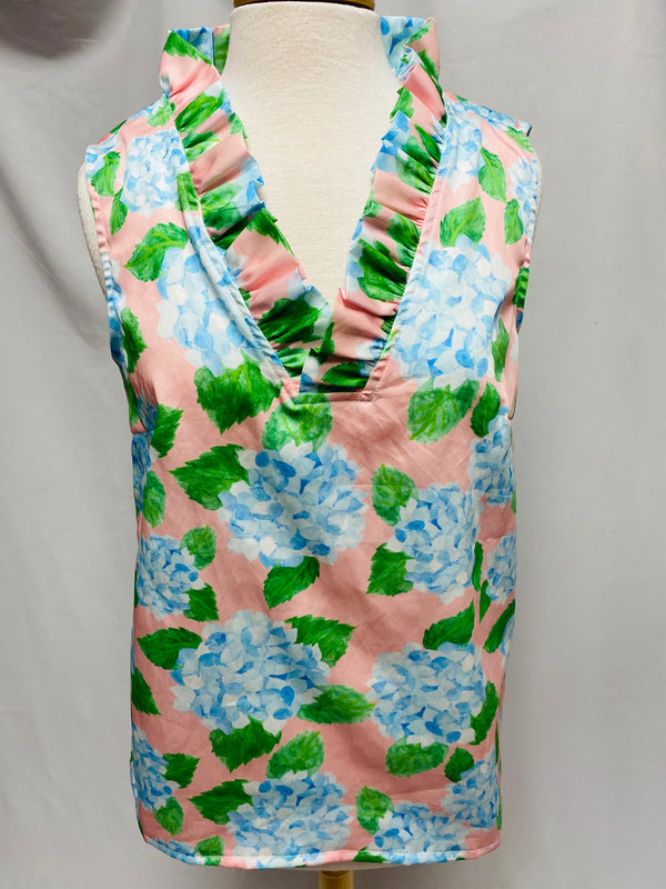 Sleeveless Parker Top-Hydrangea