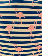 Throw Pillow-Striped Flamingo