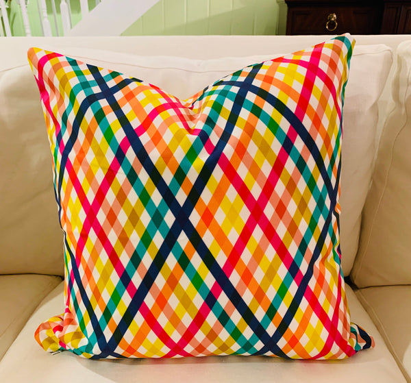 Throw Pillow-Birchdale Gingham COVER ONLY