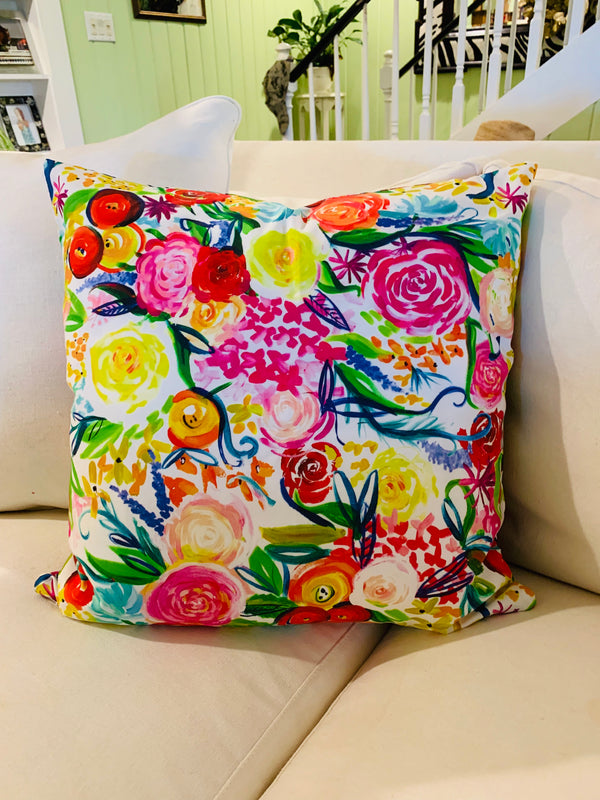 Throw Pillow-Summer Floral COVER ONLY