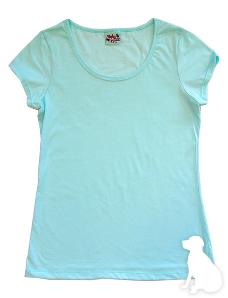 Amelia Tee in Aqua Solid