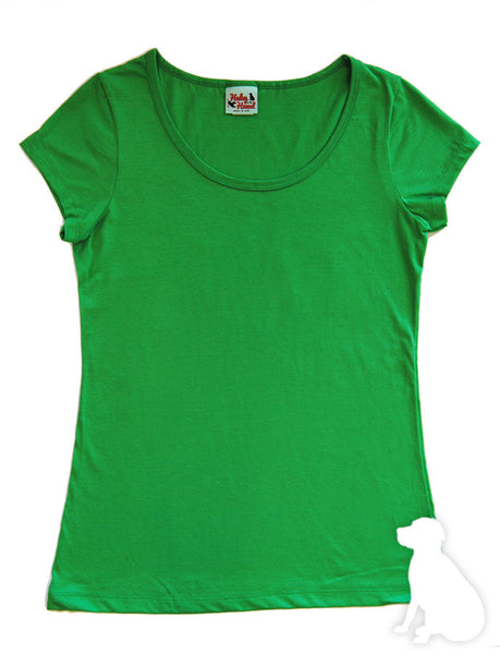 Amelia Tee in Grass Green Solid