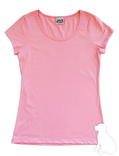Amelia Tee in Light Pink Solid
