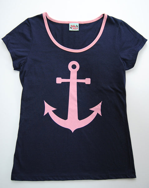 Amelia Tee in Navy Anchor