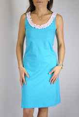Anna Dress in Turquoise