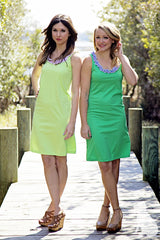 Anna Dress in Lime Green