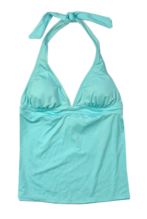 Halter Tankini Top in Aqua