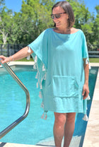 Terry Poncho Cover Up in Solid