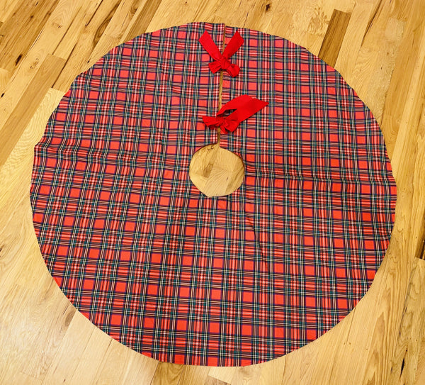 Christmas Tree Skirt-Stewart Tartan