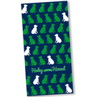 Repeating Labs Beach Towel