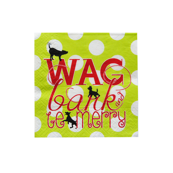 Cocktail Napkins - Wag, Bark and Be Merry