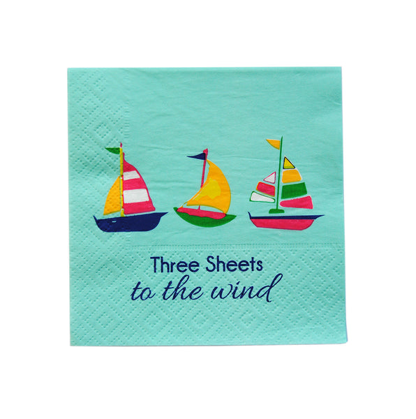 Cocktail Napkins - Three sheets to the wind