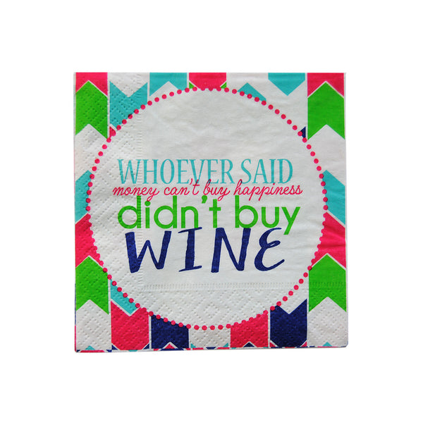Cocktail Napkins - Wine Happiness