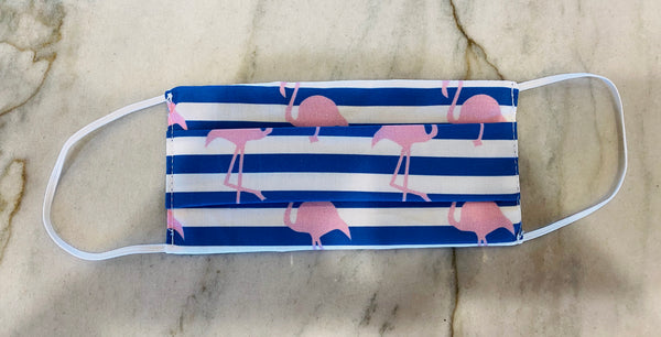 Child Face Mask-Stripe Flamingo