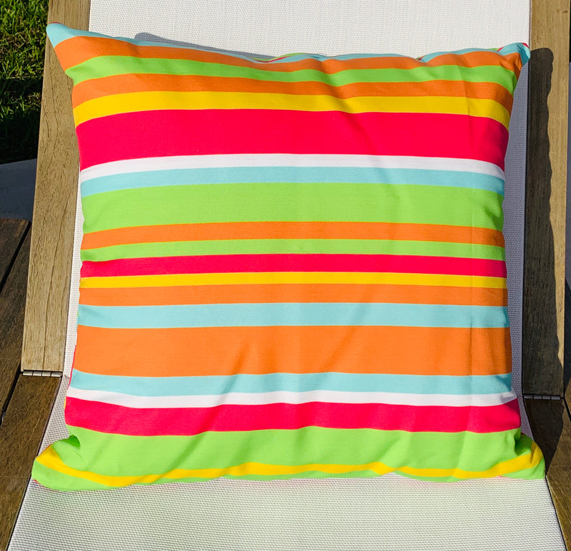 Throw Pillow Citrus Multi Stripe