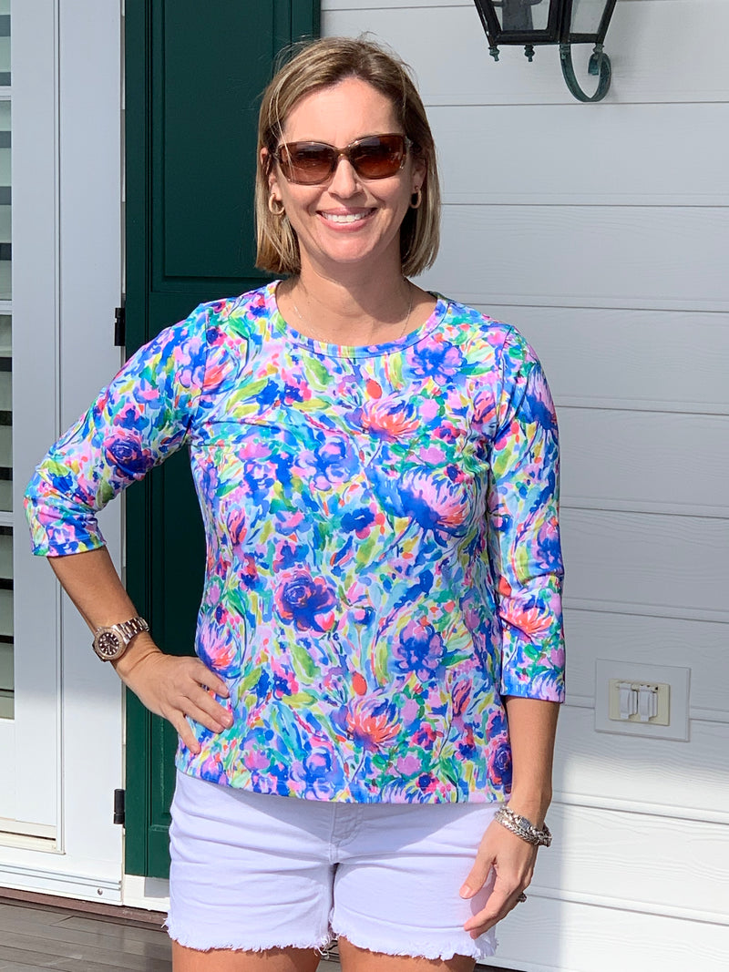 Day at the Park Top in Maximal Floral