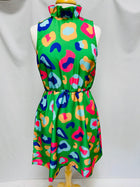 Macon Dress-Kelly Green Cheetah