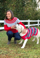 Red Fair Isle Wool Sweater