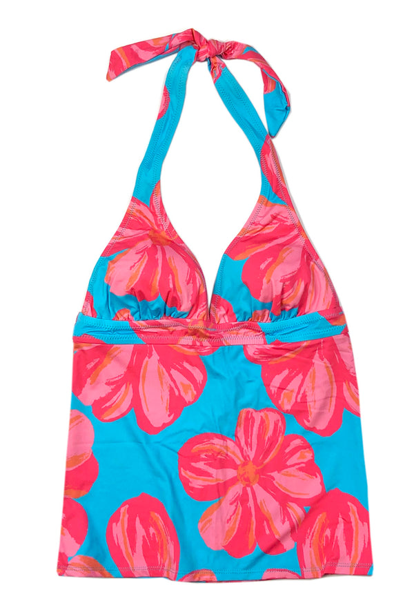 Halter Tankini Top in Floral
